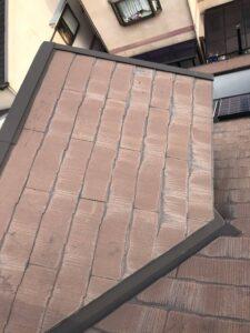 堺市にてスレート屋根のカバー工法 施工前