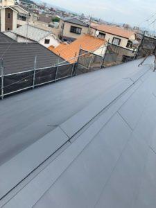堺市にて雨漏り修理のためのカバー工法 完工