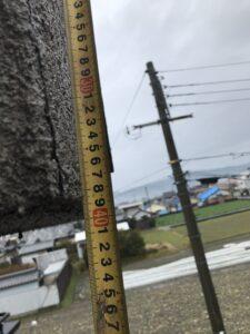 河南町にて破風の修繕作業 施工前
