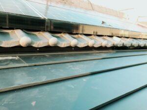 河内長野市にてカラーベスト屋根の雨漏り修理 断熱材入り完工