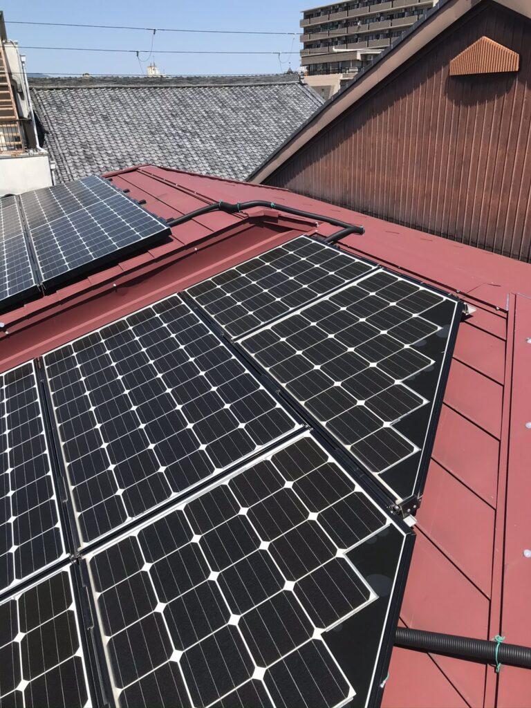 大屋根ソーラー取り外し